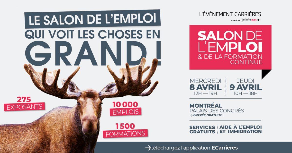 L'Événement Carrières – Salon emploi et formation continue – 8 – 9 avril 2020